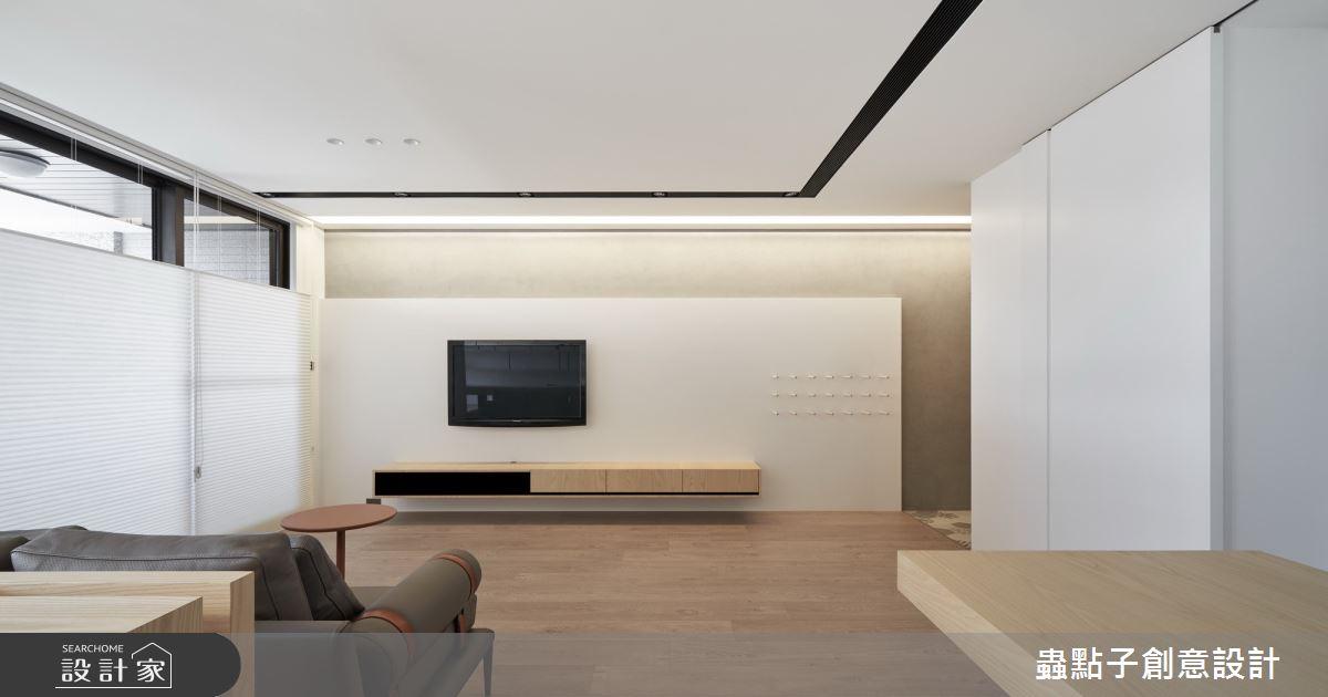 27坪新成屋(5年以下)_簡約風客廳案例圖片_蟲點子創意設計_蟲點子_83之3