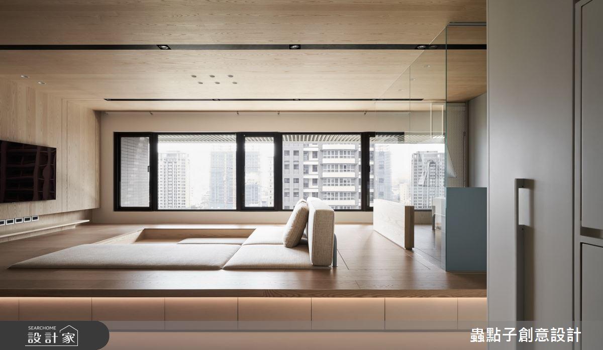 42坪新成屋(5年以下)_簡約風客廳和室案例圖片_蟲點子創意設計_蟲點子_87之3
