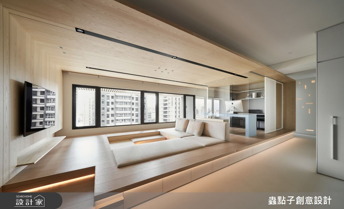 42坪新成屋(5年以下)_簡約風客廳和室案例圖片_蟲點子創意設計_蟲點子_87之4