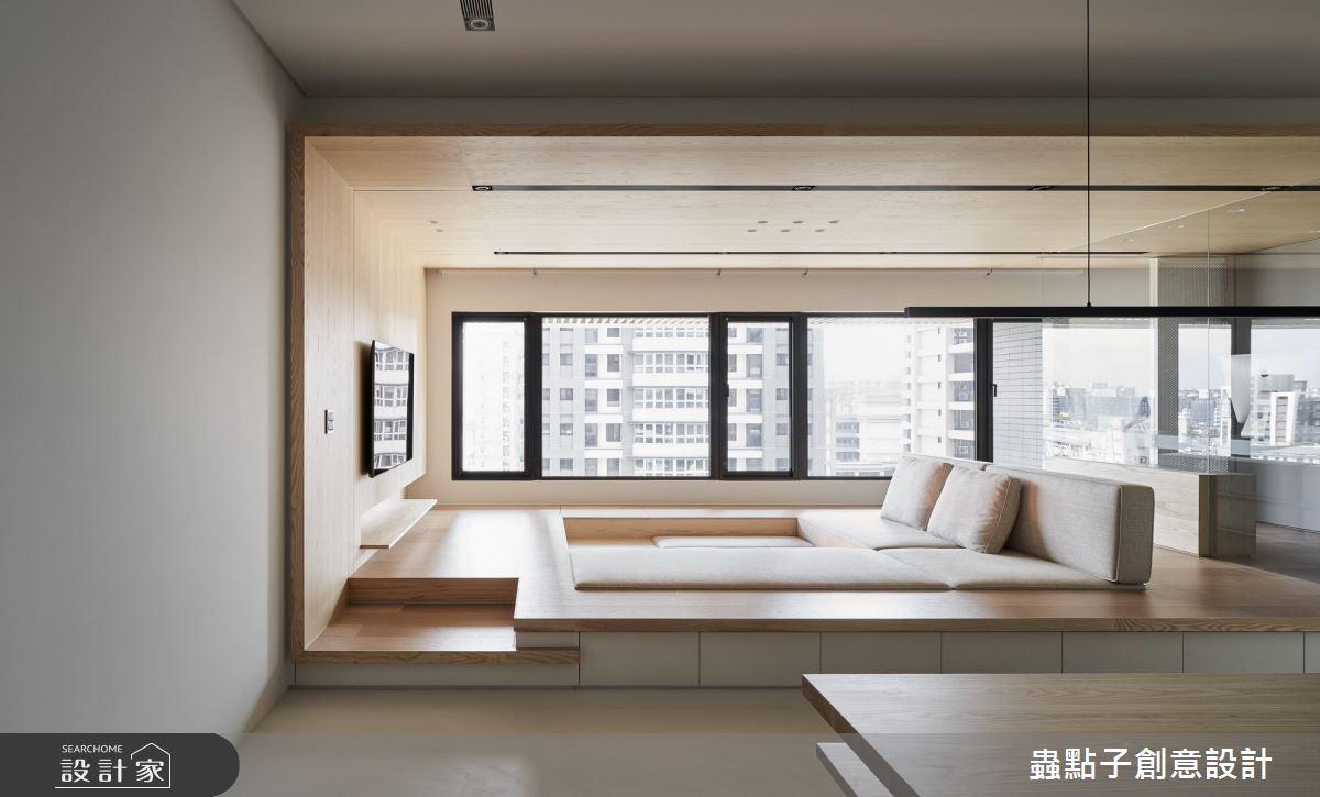 42坪新成屋(5年以下)_簡約風客廳和室案例圖片_蟲點子創意設計_蟲點子_87之2