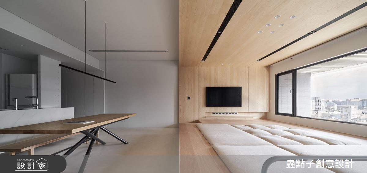42坪新成屋(5年以下)_簡約風客廳和室案例圖片_蟲點子創意設計_蟲點子_87之5