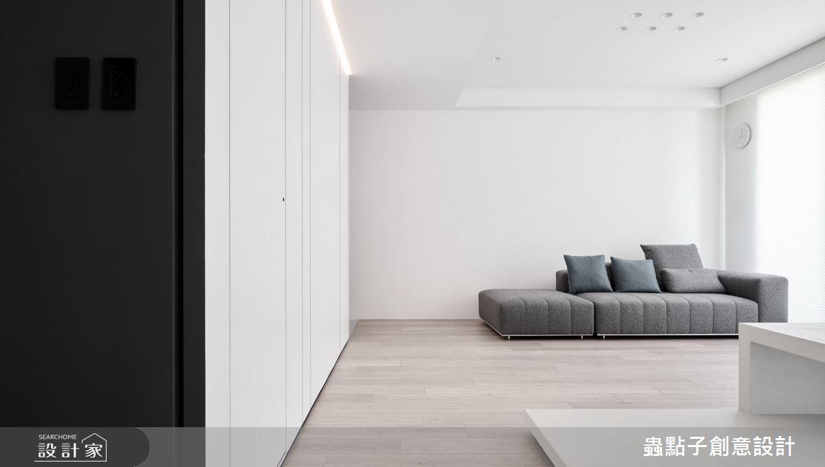 24坪新成屋(5年以下)_簡約風客廳案例圖片_蟲點子創意設計_蟲點子_88之2