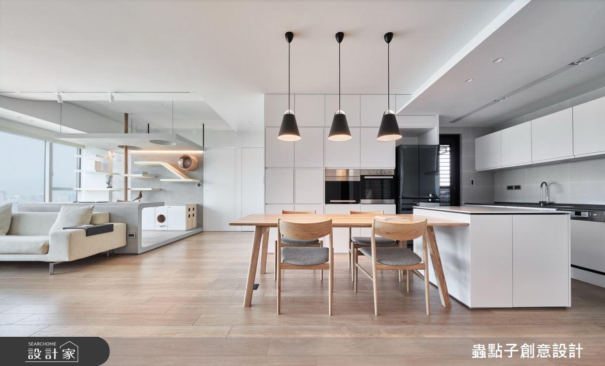 32坪新成屋(5年以下)_簡約風餐廳案例圖片_蟲點子創意設計_蟲點子_89之2