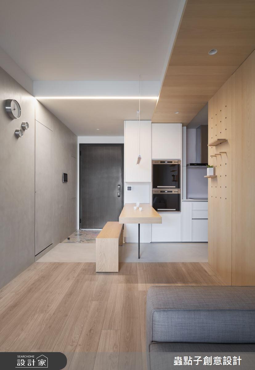 15坪新成屋(5年以下)_簡約風玄關餐廳案例圖片_蟲點子創意設計_蟲點子_90之1