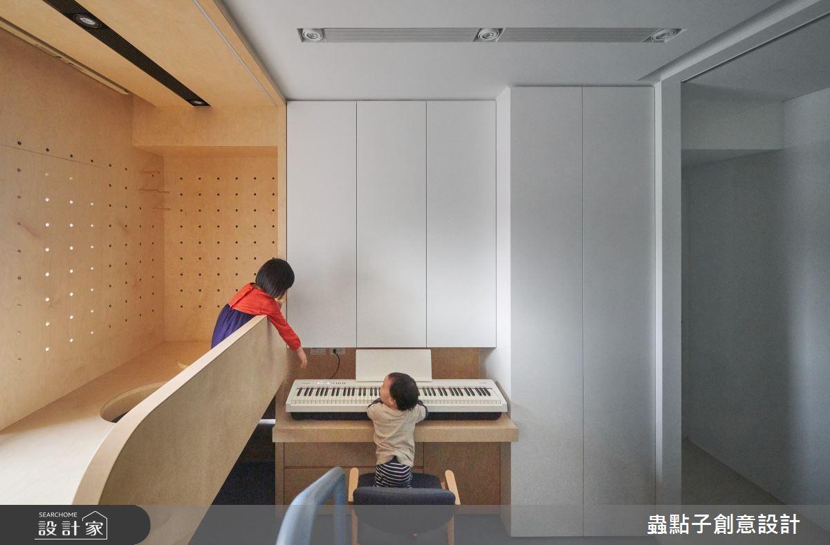 26坪新成屋(5年以下)_簡約風書房兒童房多功能室兒童房案例圖片_蟲點子創意設計_蟲點子_96之16