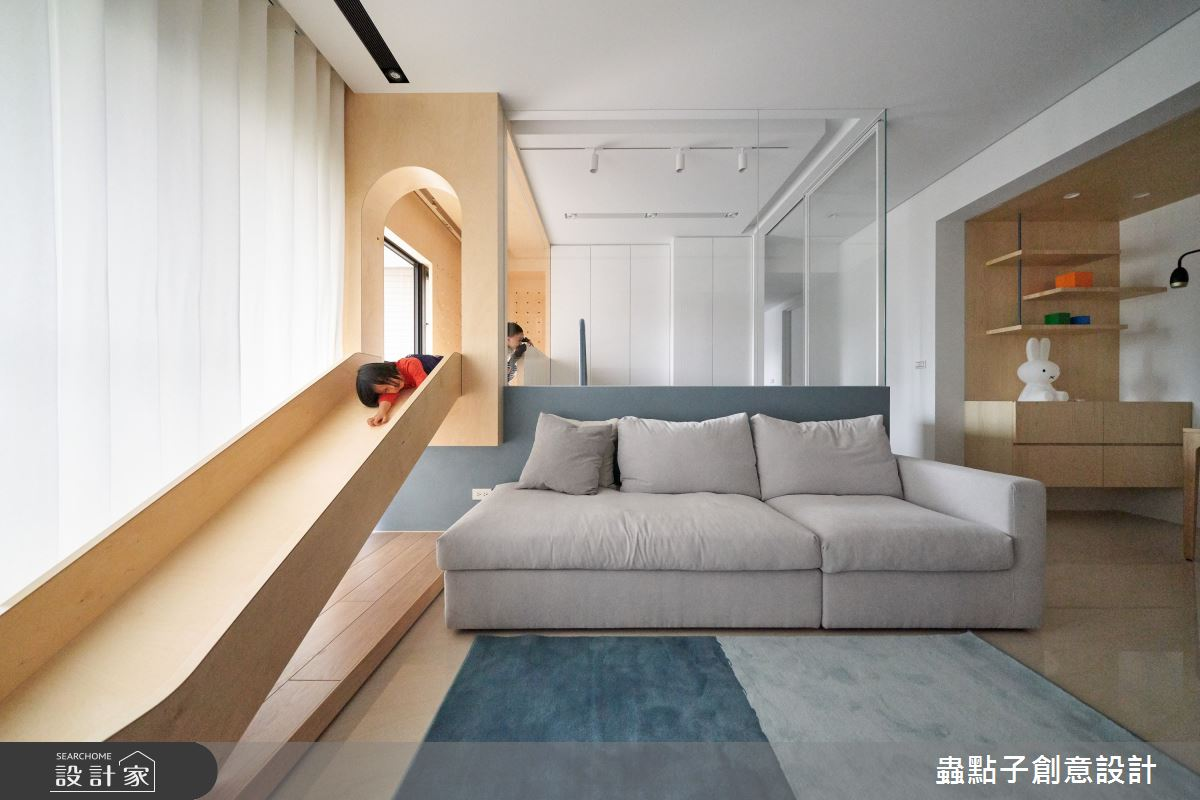 26坪新成屋(5年以下)_簡約風客廳案例圖片_蟲點子創意設計_蟲點子_96之9