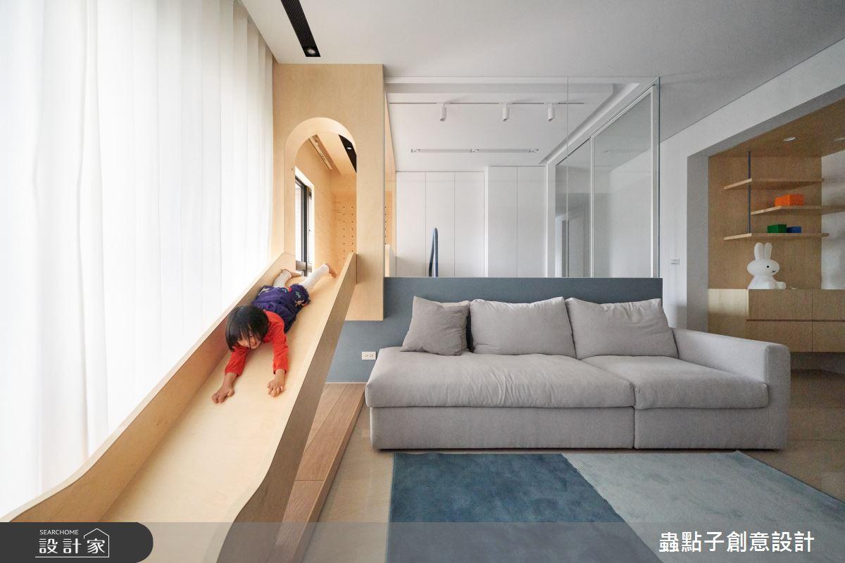 26坪新成屋(5年以下)_簡約風客廳案例圖片_蟲點子創意設計_蟲點子_96之10