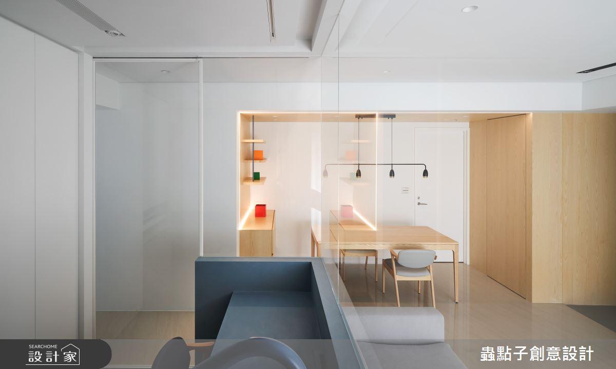 26坪新成屋(5年以下)_簡約風客廳餐廳多功能室案例圖片_蟲點子創意設計_蟲點子_96之13