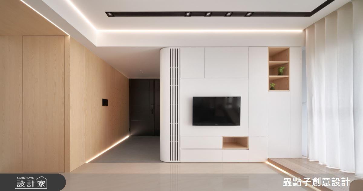 26坪新成屋(5年以下)_簡約風客廳案例圖片_蟲點子創意設計_蟲點子_96之5