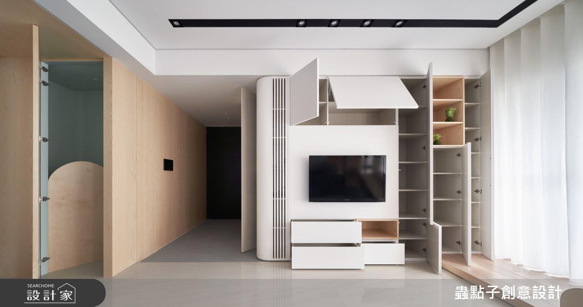 26坪新成屋(5年以下)_簡約風客廳案例圖片_蟲點子創意設計_蟲點子_96之4