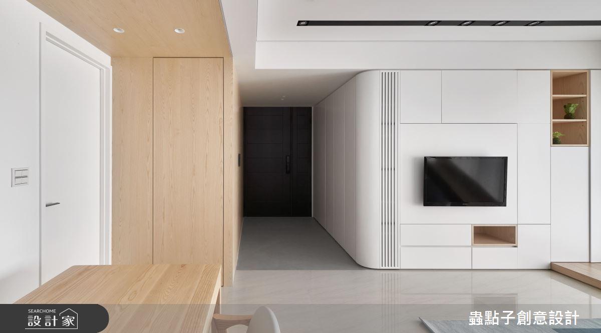 26坪新成屋(5年以下)_簡約風客廳案例圖片_蟲點子創意設計_蟲點子_96之2