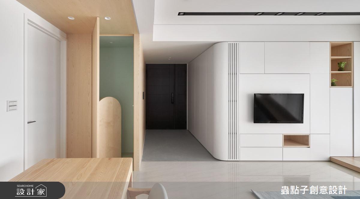 26坪新成屋(5年以下)_簡約風客廳案例圖片_蟲點子創意設計_蟲點子_96之3