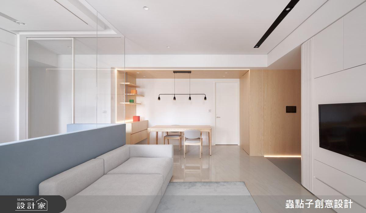 26坪新成屋(5年以下)_簡約風客廳餐廳案例圖片_蟲點子創意設計_蟲點子_96之12