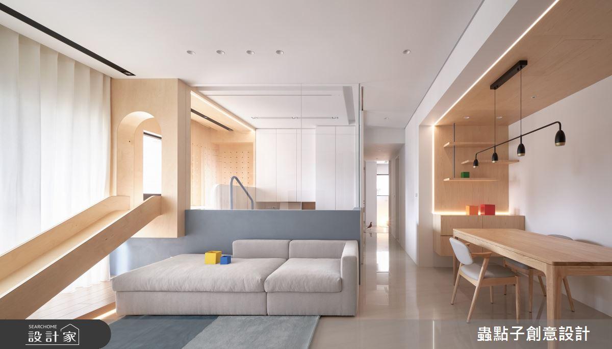 26坪新成屋(5年以下)_簡約風客廳餐廳案例圖片_蟲點子創意設計_蟲點子_96之11