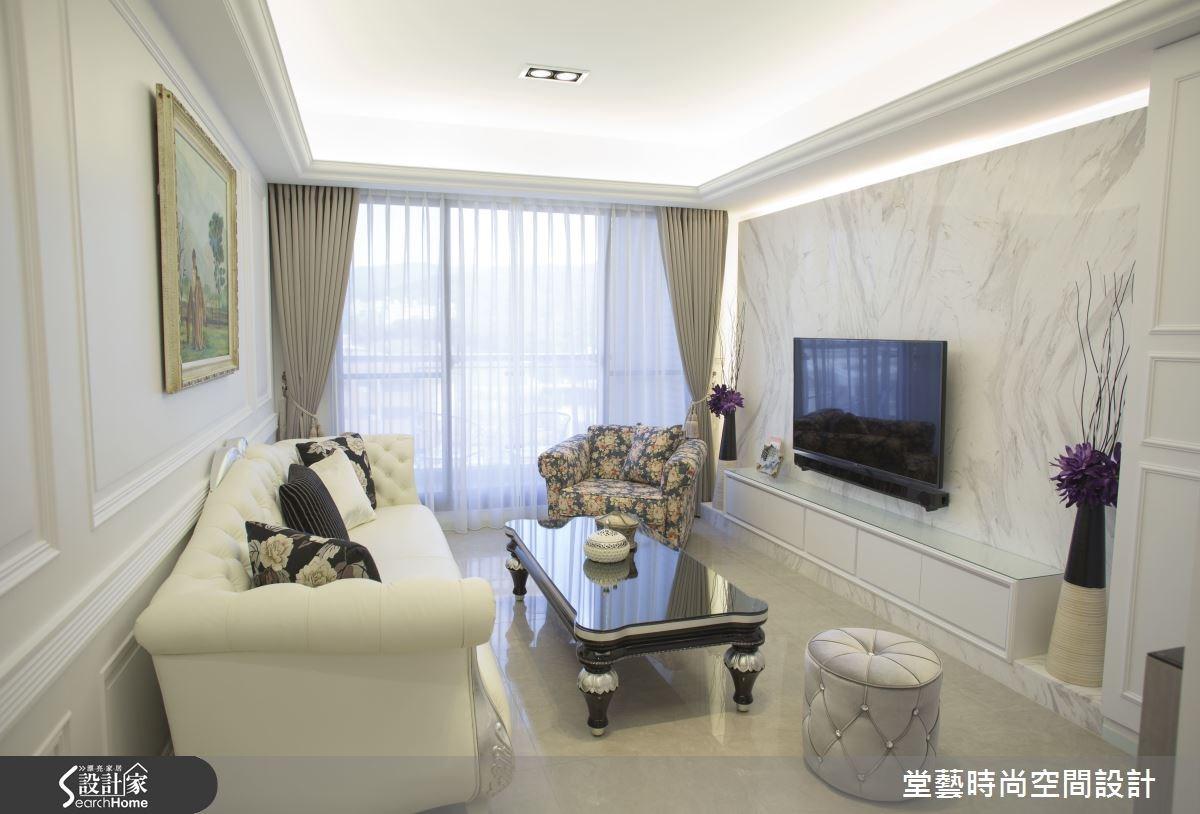 28坪新成屋(5年以下)_新古典客廳案例圖片_棠藝設計_堂藝_26之2