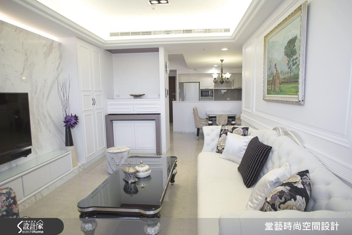 28坪新成屋(5年以下)_新古典客廳案例圖片_棠藝設計_堂藝_26之3