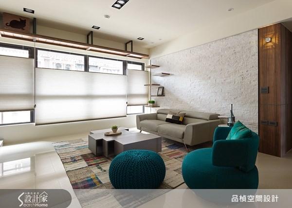 38坪新成屋(5年以下)_療癒風客廳案例圖片_品楨空間設計_品楨_09之3
