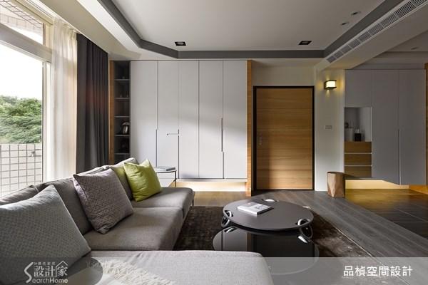 45坪老屋(16~30年)_現代風客廳案例圖片_品楨空間設計_品楨_10之4