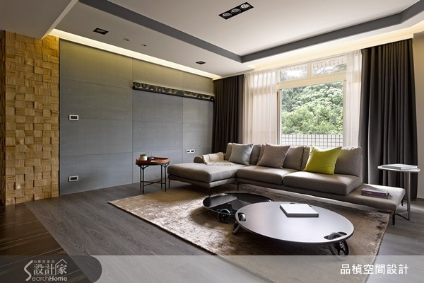 45坪老屋(16~30年)_現代風客廳案例圖片_品楨空間設計_品楨_10之2