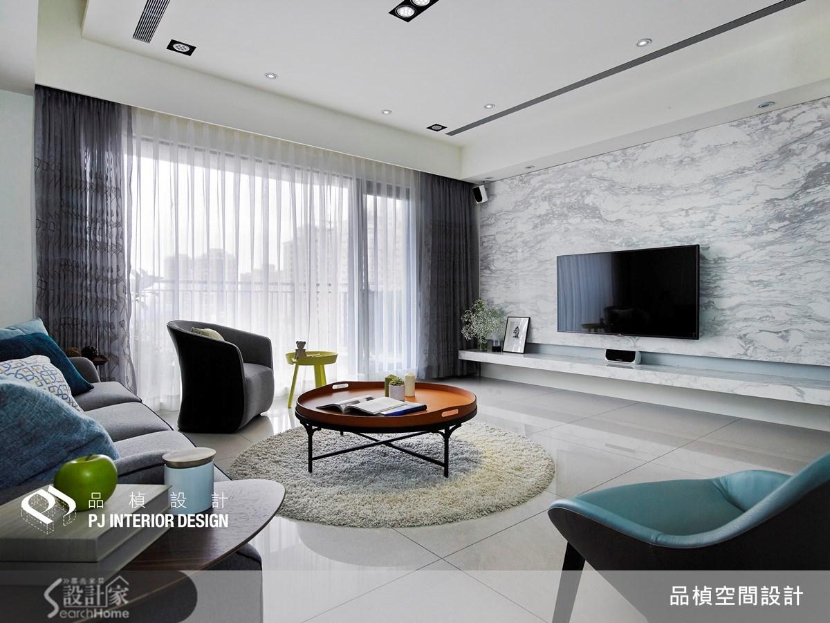 41坪新成屋(5年以下)_療癒風客廳案例圖片_品楨空間設計_品楨_11之1