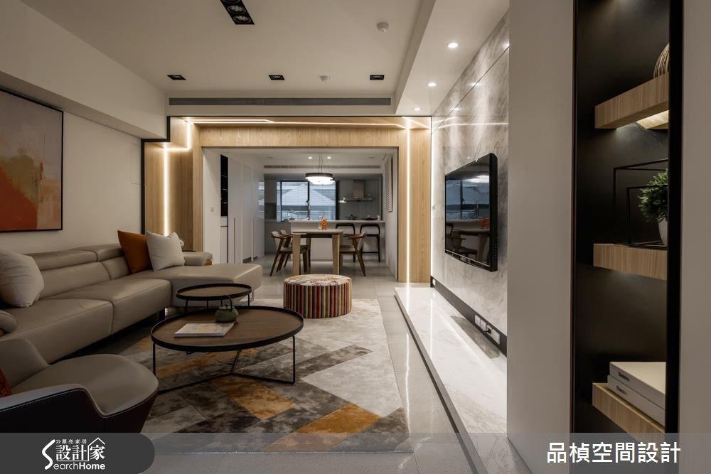 40坪中古屋(5~15年)_現代風客廳案例圖片_品楨空間設計_品楨_23之4