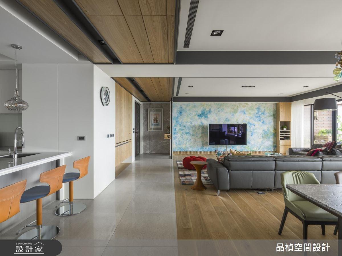 80坪新成屋(5年以下)_休閒風客廳案例圖片_品楨空間設計_品楨_26之2