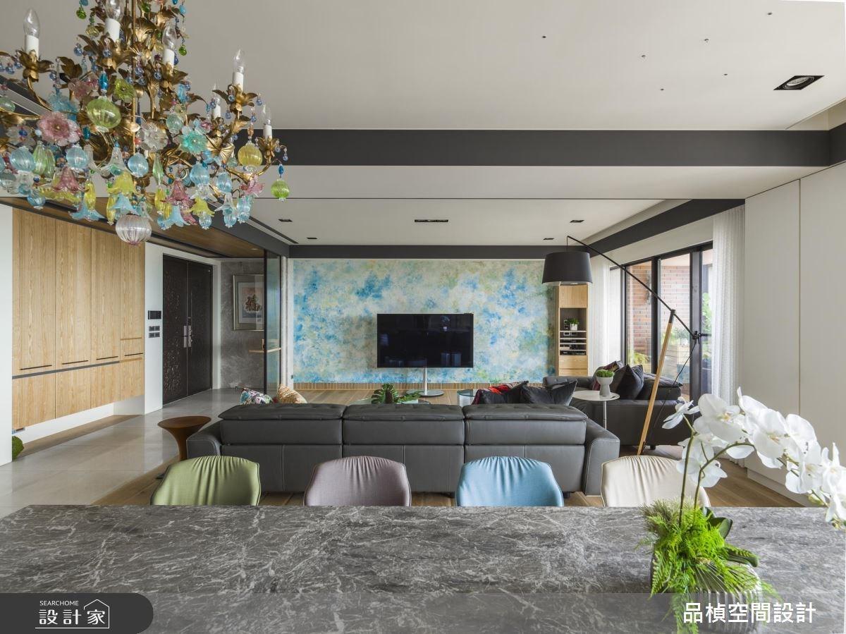 80坪新成屋(5年以下)_休閒風客廳餐廳案例圖片_品楨空間設計_品楨_26之3