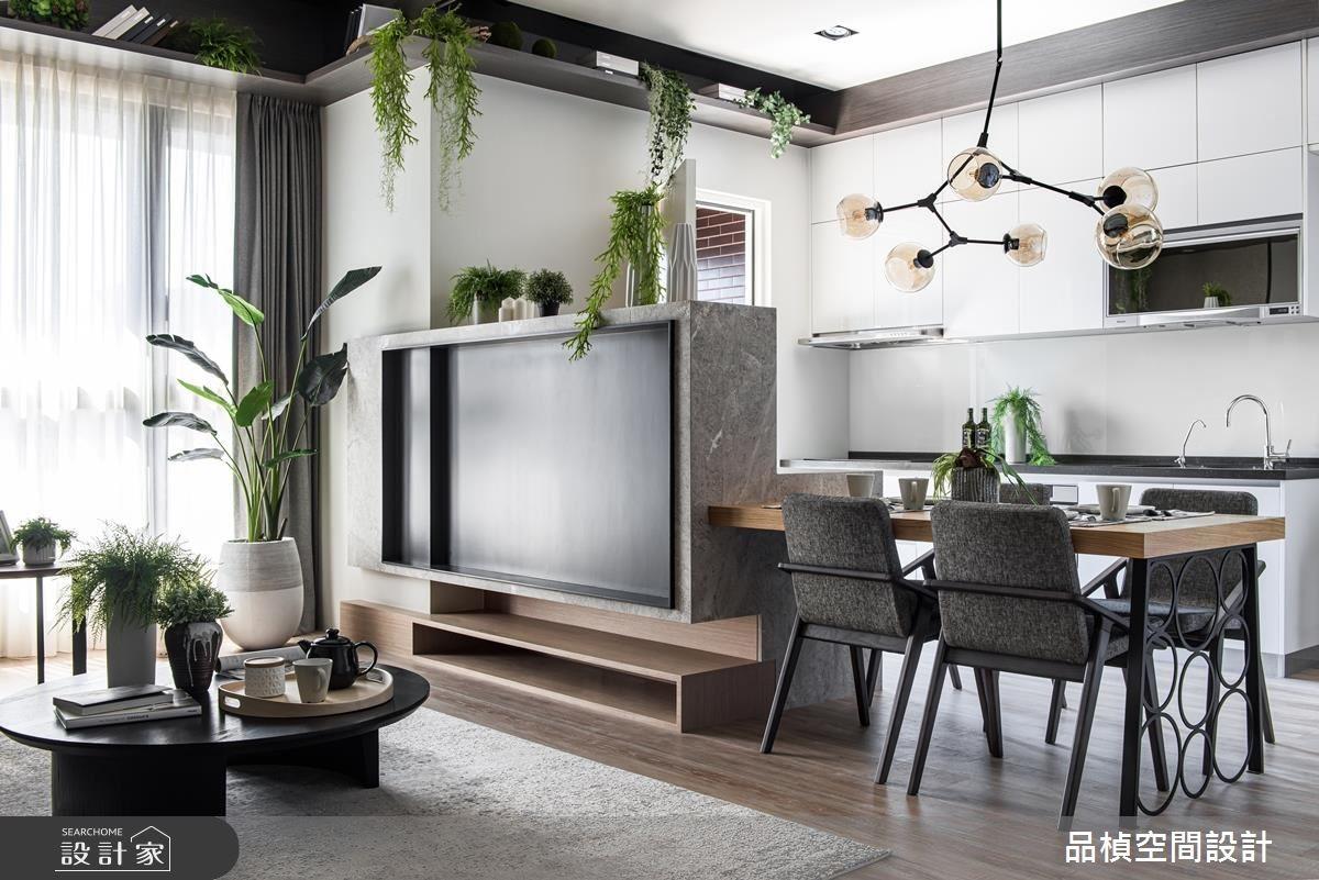 26坪新成屋(5年以下)_現代風客廳餐廳案例圖片_品楨空間設計_品楨_28之10