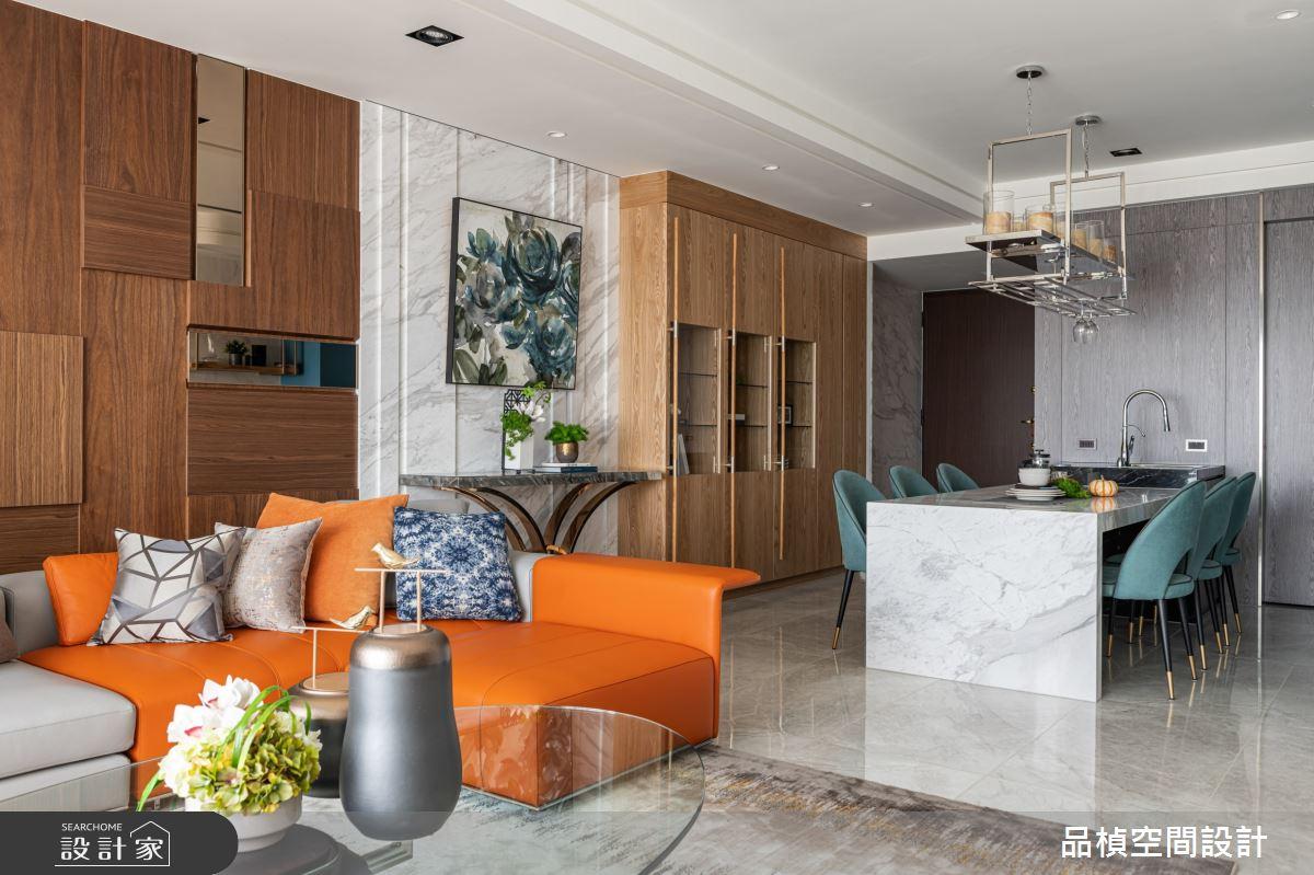 45坪新成屋(5年以下)_現代風客廳餐廳案例圖片_品楨空間設計_品楨_30之1