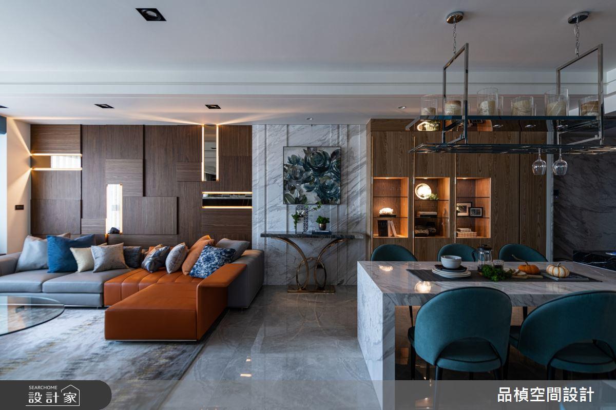 45坪新成屋(5年以下)_現代風客廳餐廳案例圖片_品楨空間設計_品楨_30之3