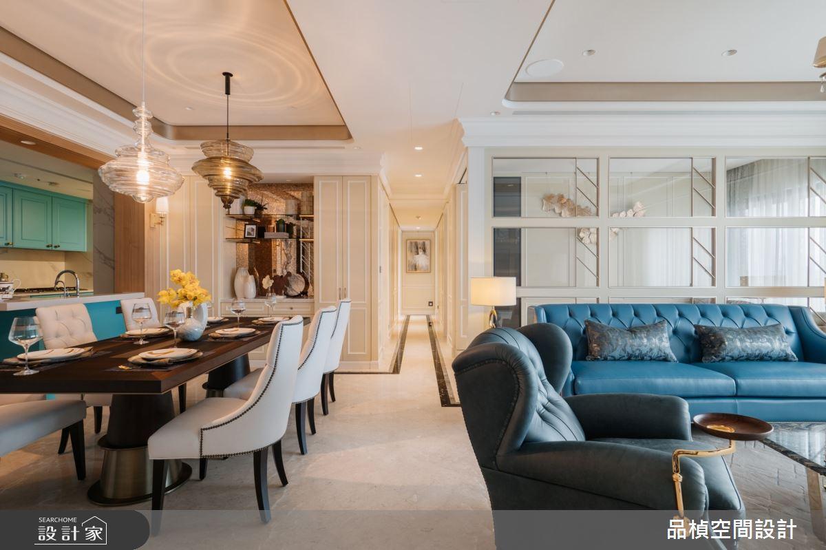 52坪新成屋(5年以下)_新古典客廳餐廳案例圖片_品楨空間設計_品楨_31之4