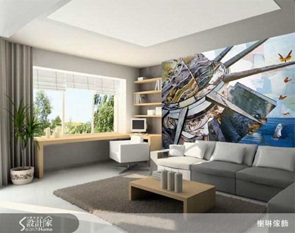 _案例圖片_榭琳傢飾設計公司_榭琳傢飾-窗簾.壁紙.家具提供_大幅壁紙之11