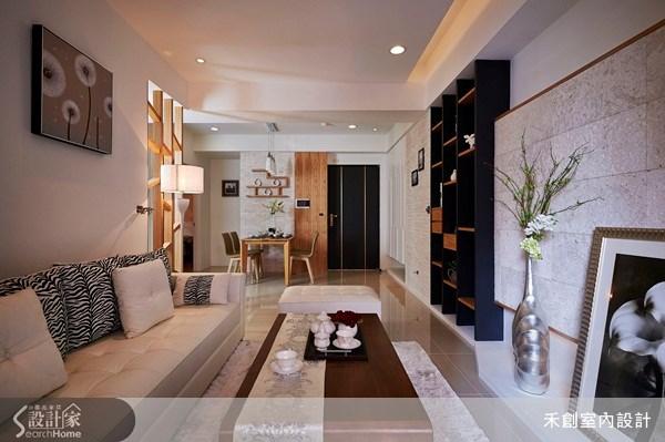 25坪新成屋(5年以下)_現代風客廳案例圖片_禾捷室內裝修設計有限公司_禾創_17之1