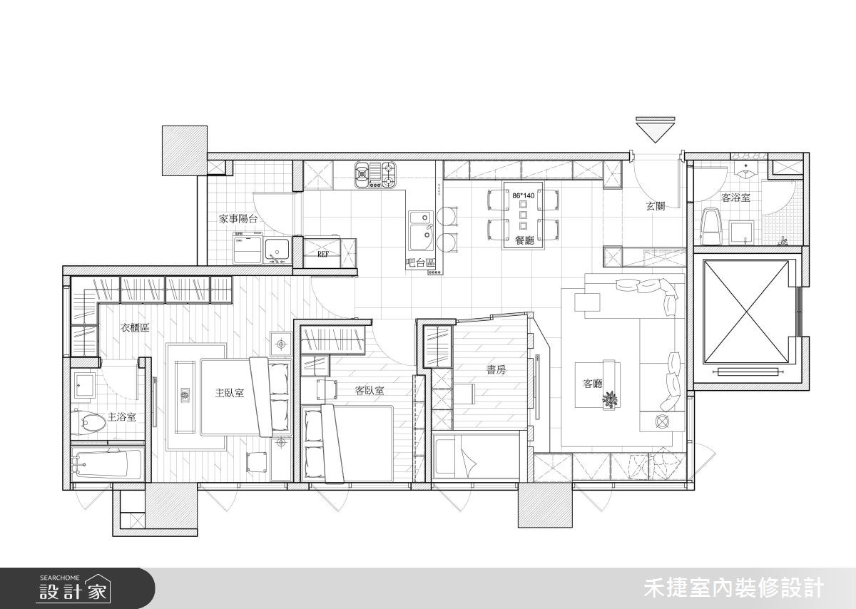 23坪新成屋(5年以下)_混搭風案例圖片_禾捷室內裝修設計有限公司_禾捷_36之13
