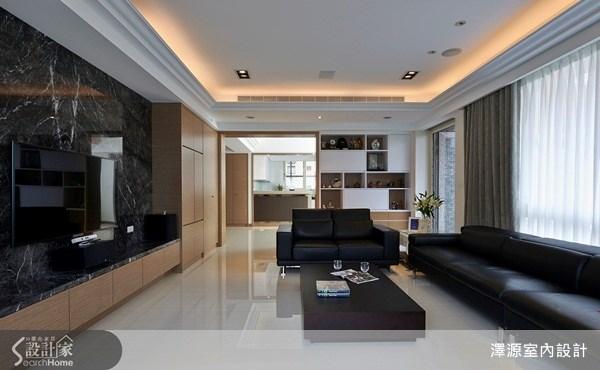70坪_現代風客廳案例圖片_澤源室內設計_澤源_10之2