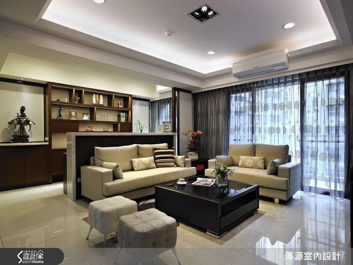 32坪新成屋(5年以下)_混搭風客廳案例圖片_澤源室內設計_澤源_15之1