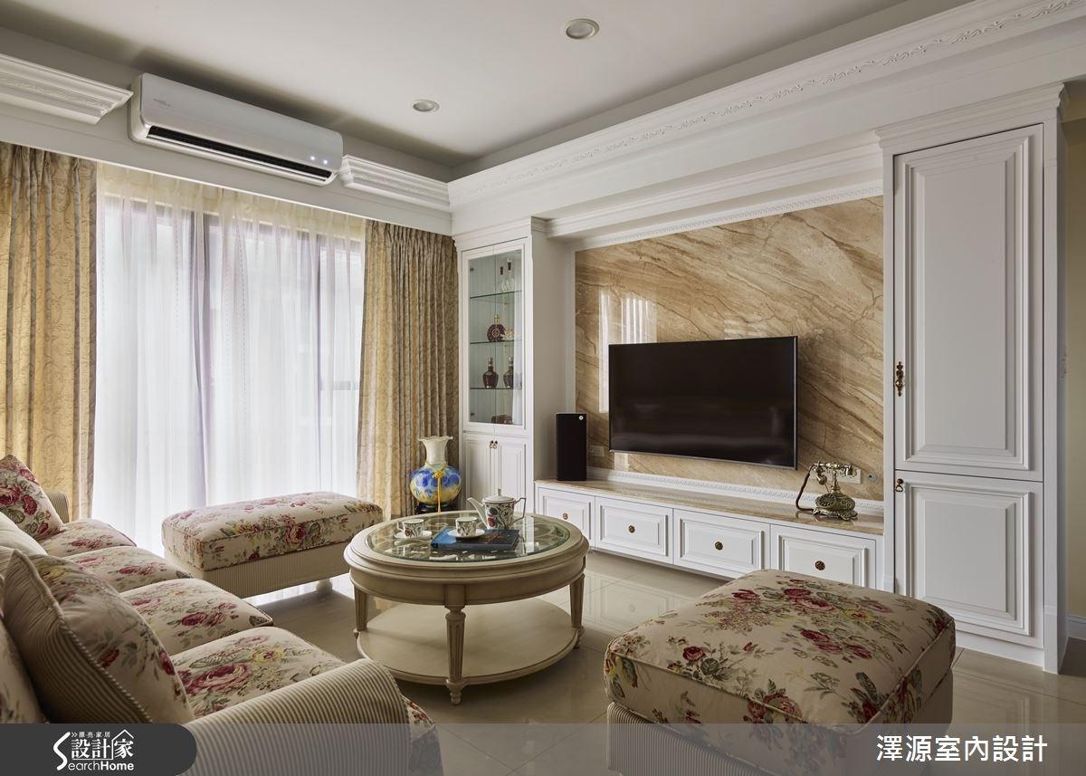 32坪新成屋(5年以下)_鄉村風客廳案例圖片_澤源室內設計_澤源_16之3