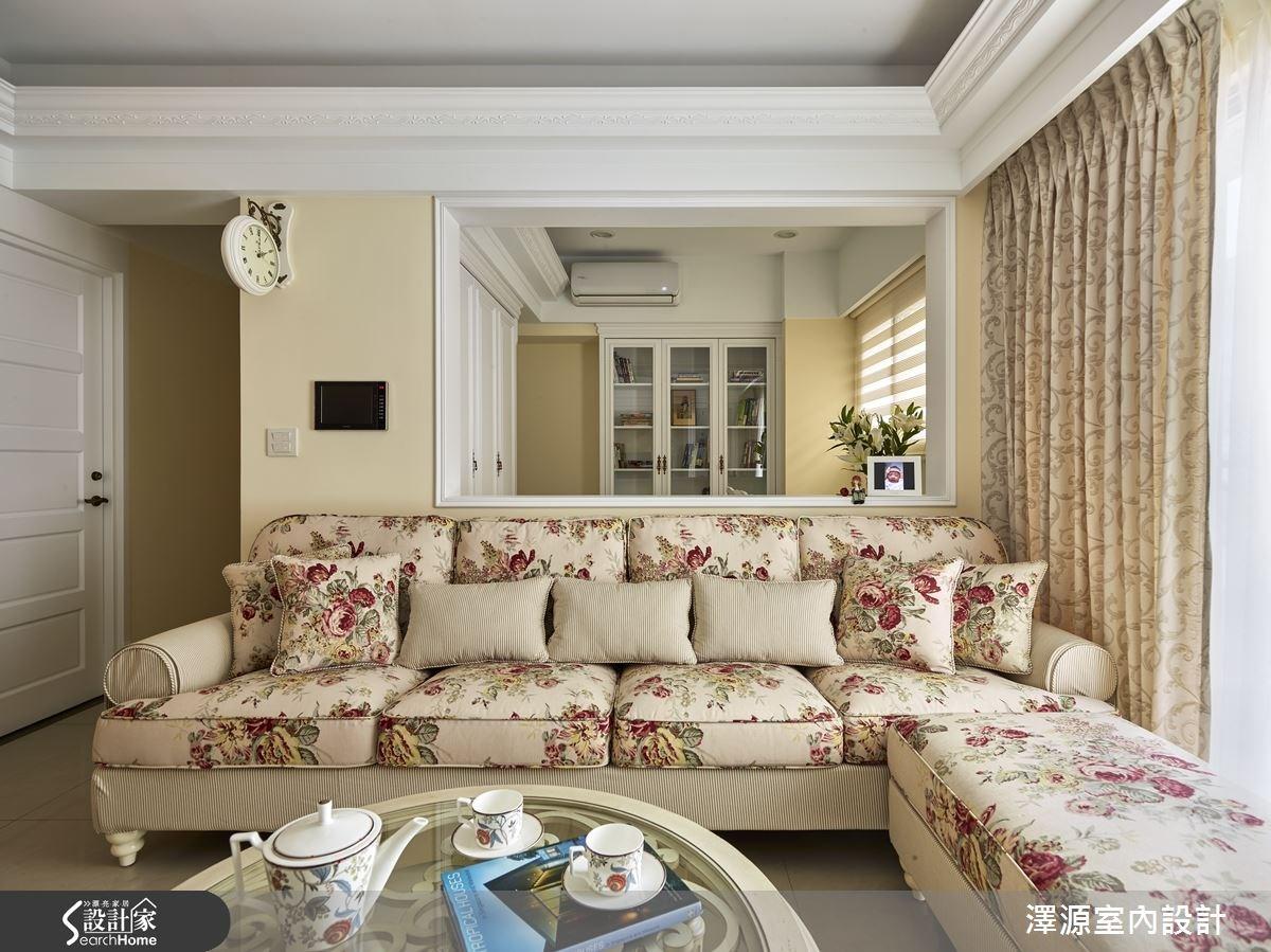 32坪新成屋(5年以下)_鄉村風客廳案例圖片_澤源室內設計_澤源_16之5