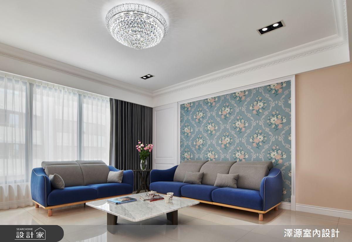 40坪新成屋(5年以下)_美式風客廳案例圖片_澤源室內設計_澤源_18之5