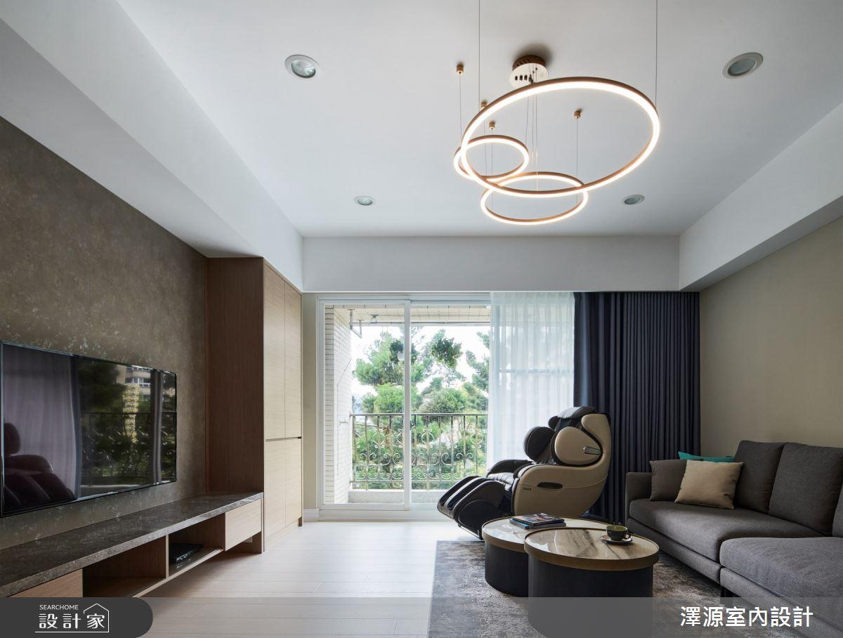 42坪老屋(16~30年)_混搭風客廳案例圖片_澤源室內設計_澤源_19之3