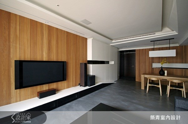 32坪新成屋(5年以下)_現代風客廳案例圖片_築青室內裝修有限公司_築青_01之3