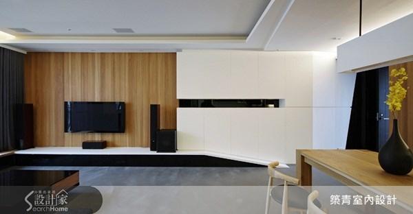 32坪新成屋(5年以下)_現代風客廳案例圖片_築青室內裝修有限公司_築青_01之2