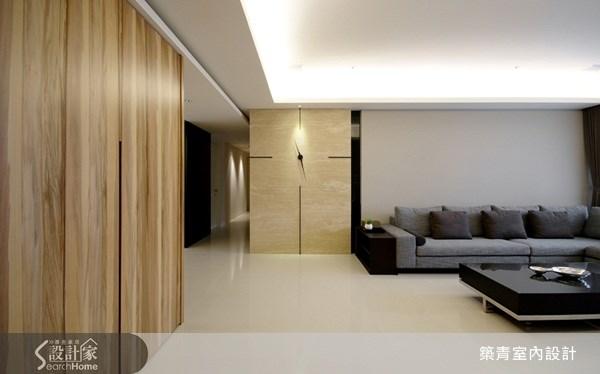 50坪預售屋_現代風客廳案例圖片_築青室內裝修有限公司_築青_03之3