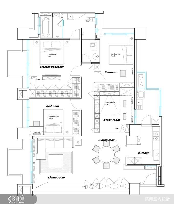 32坪預售屋_北歐風案例圖片_築青室內裝修有限公司_築青_06之16