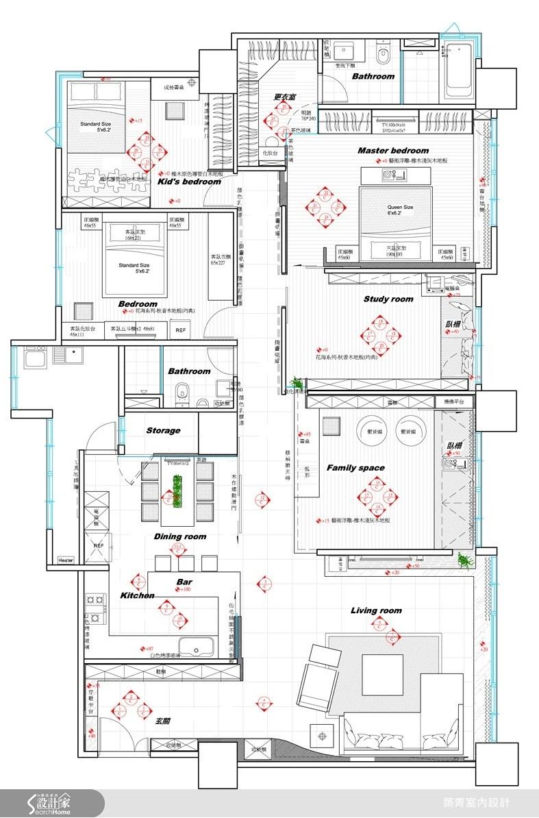 80坪新成屋(5年以下)_現代風案例圖片_築青室內裝修有限公司_築青_07之16