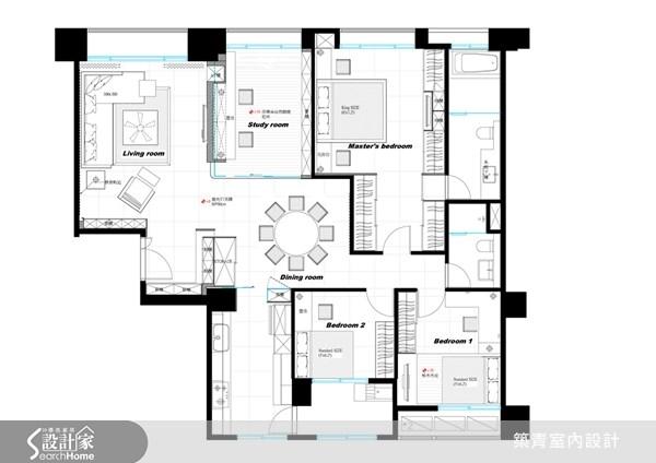 40坪預售屋_北歐風案例圖片_築青室內裝修有限公司_築青_13之16