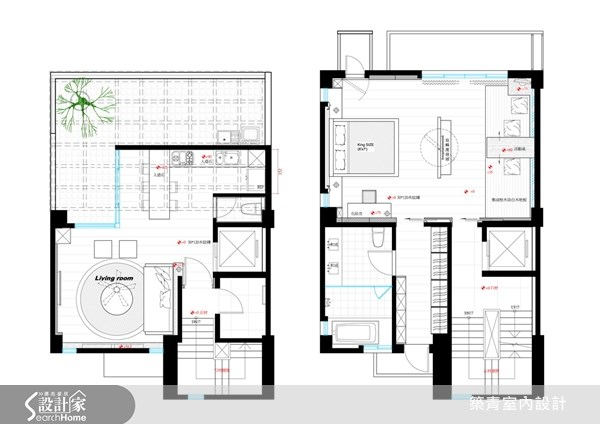 60坪新成屋(5年以下)_鄉村風案例圖片_築青室內裝修有限公司_築青_14之16