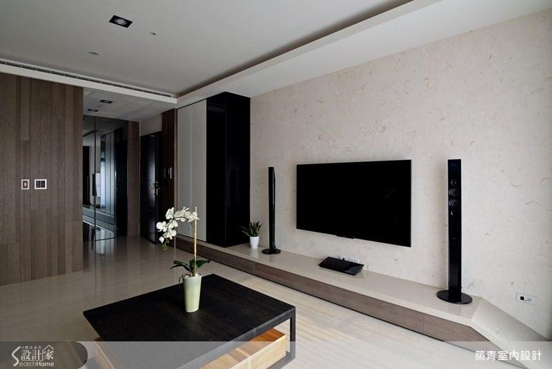 35坪預售屋_現代風客廳案例圖片_築青室內裝修有限公司_築青_24之3