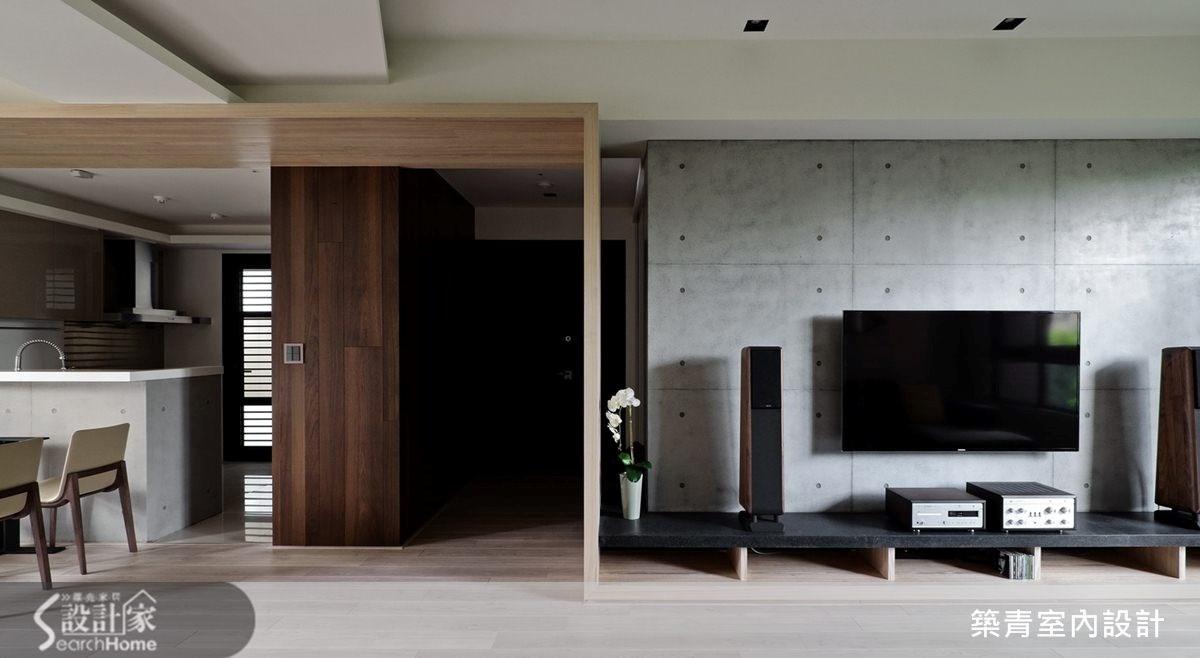 45坪預售屋_現代風客廳案例圖片_築青室內裝修有限公司_築青_26之2