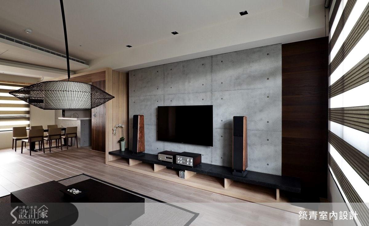 45坪預售屋_現代風客廳案例圖片_築青室內裝修有限公司_築青_26之3